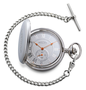 Dalvey Full Hunter Pocket Watch Blue White/Orange