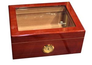 Savoy Humidor Mahogny Glas Medium