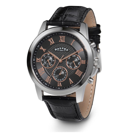 Dalvey Torque Wristwatch Grey/Rosé