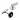 S.T.Dupont Manschettknapp Palladium / Svart lack med Swarowski-kristall