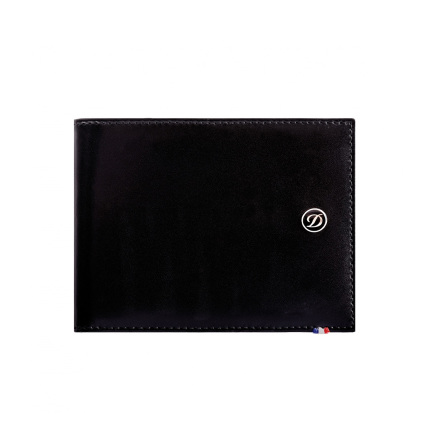 S.T.Dupont Line D Plånbok 8cc & ID-kort svart